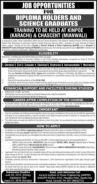 Career Opportunity of Training in a Public Sector Organization PAEC