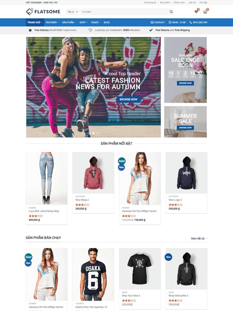 Theme blogspot bán hàng Flatsome Mega Shop - Ảnh 1