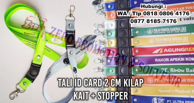 Tali ID Card 2 cm, Tali id ukuran 2 cm, Tali Id Card Nilon 2 cm, Jual Tali Id Card Komplit, Tali Hp Murah ukuran lebar 2 cm dengan stoper dan kait logam termurah