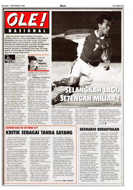TIM NASIONAL INDONESIA PIALA TIGER 98