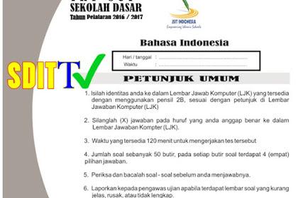 SOAL TRYOUT JSIT terbaru 2017  SD/MI - Bahasa Indonesia