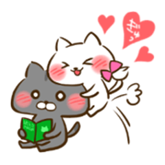 cat couple LOVELOVE Sticker 2