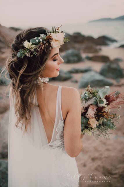 boho wedding hair townsville libby twine photography hairstylist bridal