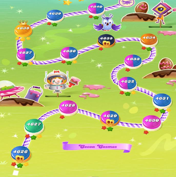 Candy Crush Saga level 4626-4640