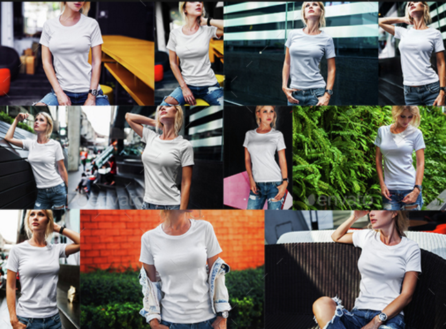 21. Female T-Shirt Fashion Mock-Up