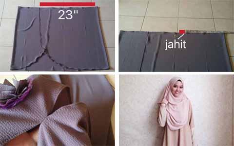 Cara Jahit Jilbab Instan Tutorial Hijab Cara Memakai Jilbab Dan