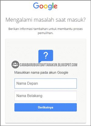 cara melihat akun google yang lupa