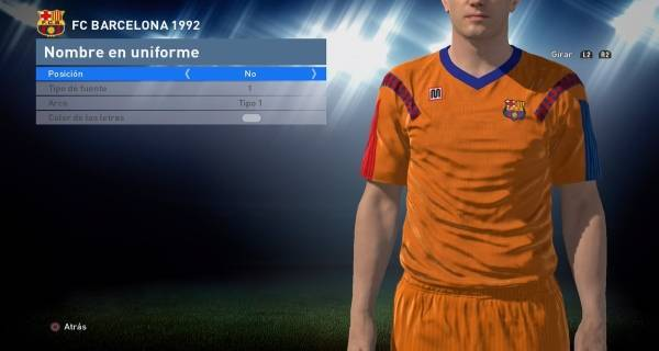 PES 2016 Football Club Barcelona 1992 Classic Kit