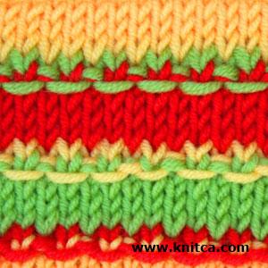 knitca: 5 colorful knitting stitch patterns