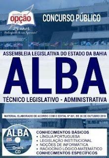 Baixar Apostila Concurso ALBA 2018 PDF Download