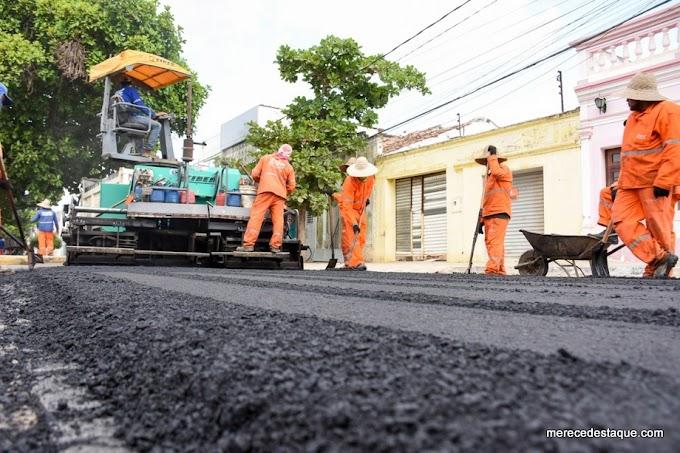 Avenida Padre Zuzinha recebe segunda etapa de asfalto