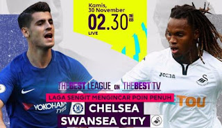 Prediksi Chelsea vs Swansea City 30 November 2017