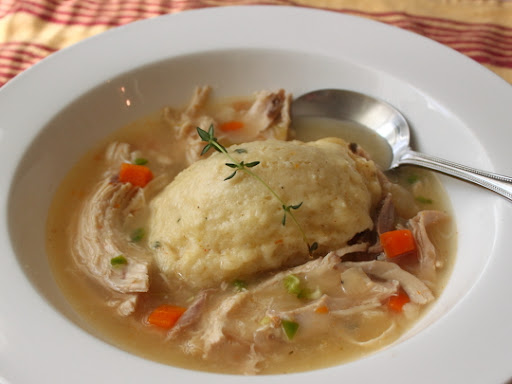 Food Wishes Video Recipes Chicken Dumplings Stewed Chicken With Thyme Creme Fraiche Dumplins