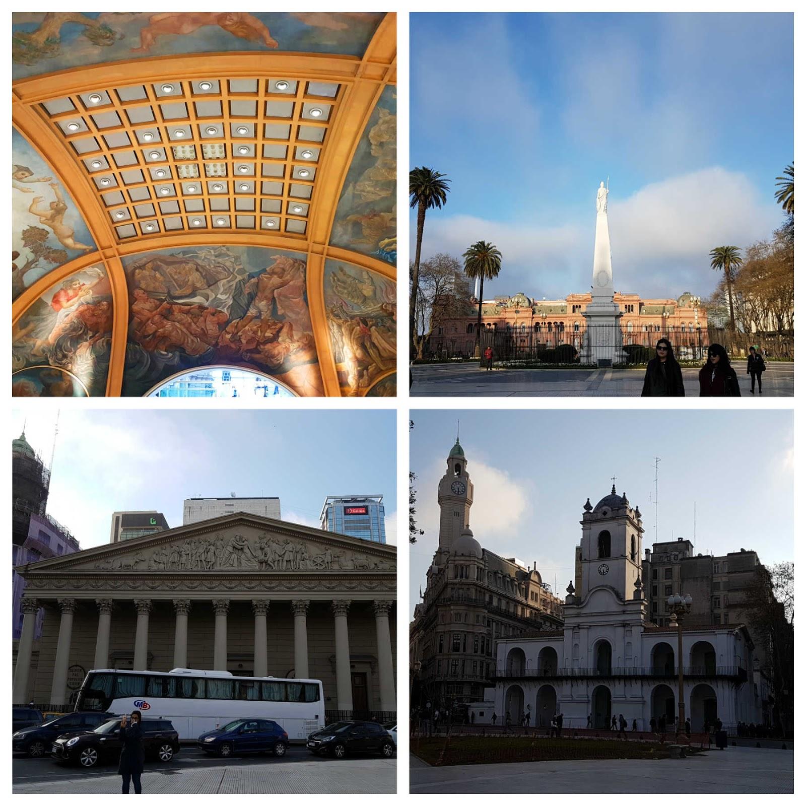 Galerias Pacífico, Casa Rosada, Catedral e Cabildo em Buenos Aires.