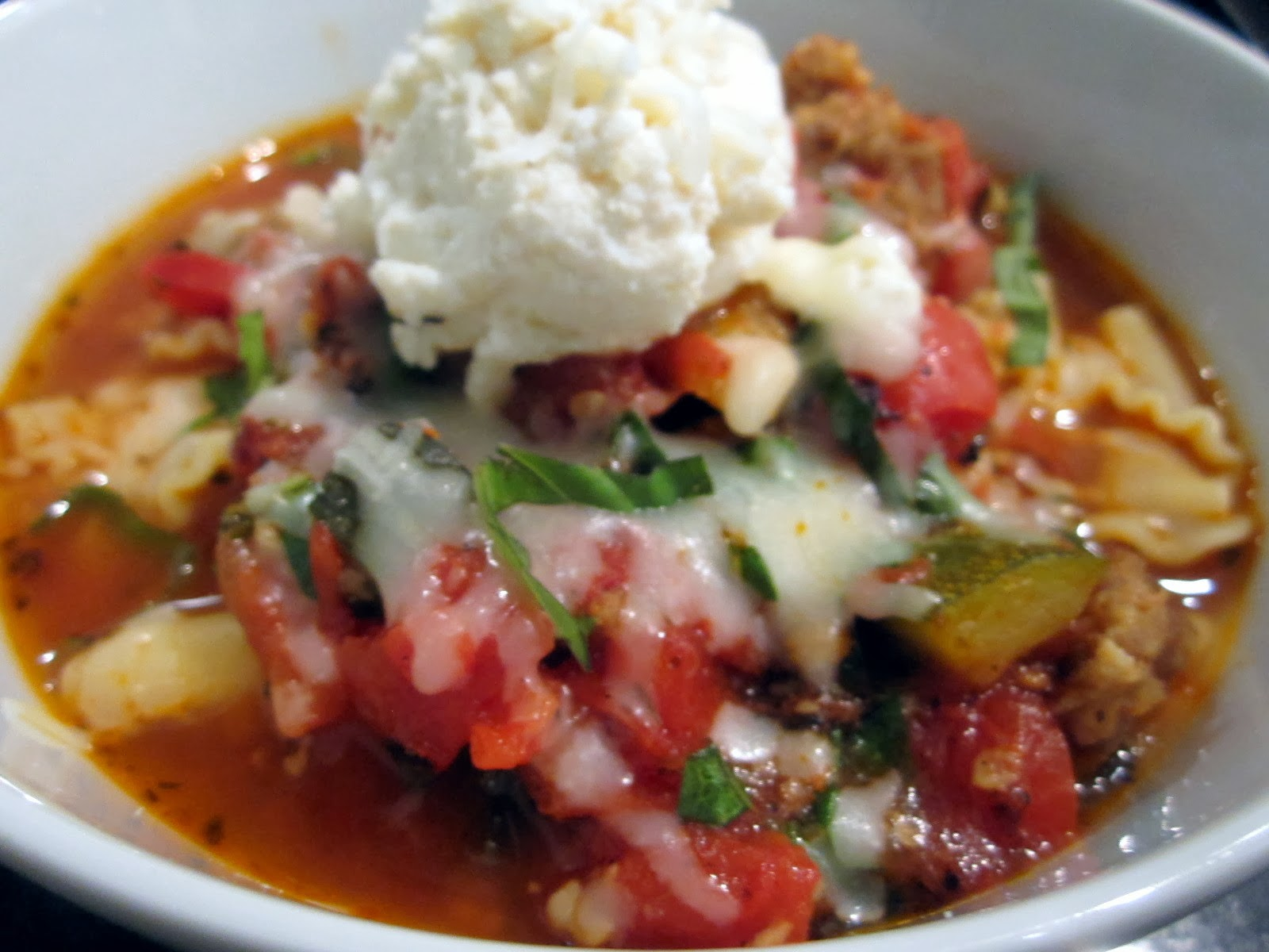 sophie in the kitchen lasagna soup