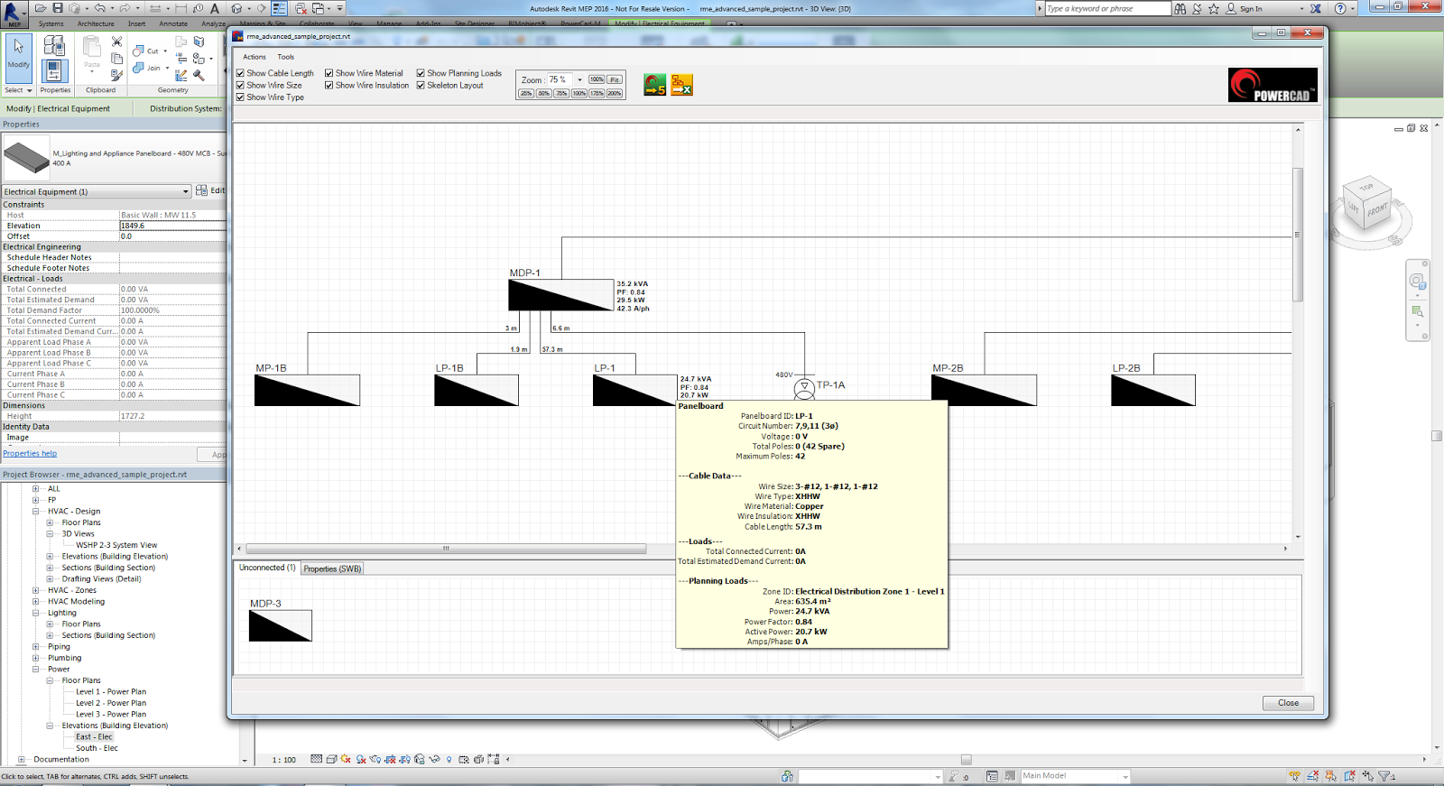 electrical one line diagram software single phase reversing motor wiring revit add ons powercad m version 1 3 released