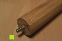 Schraube: Lumaland Cuisine Küchenrollenhalter aus Bambus mit Edelstahl Spitze, Ø ca. 14 cm x 32 cm