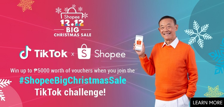 Shopee Teams Up with TikTok for #ShopeeBigChristmasSale Challenge