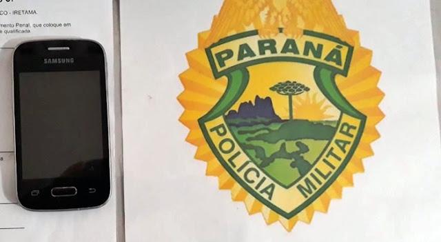Roncador: Jovem furtou pizzaria e foi pego pela PM com o celular dos proprietários