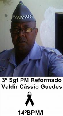 Nota de Falecimento: Sargento Valdir Cássio Guedes
