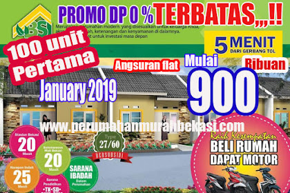 PROMO Rumah DP 0%  Subsidi Tambun Utara Bekasi 2019 Perumahan  Bumi Srimahi