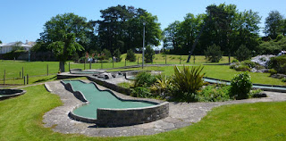 Minigolf course in Goodrington Park at Goodrington Sands, Paignton, Devon