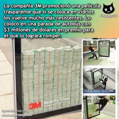 La verdad detrás del reto de los $3 millones de dólares detrás del vidrio antibalas de la compañía 3M