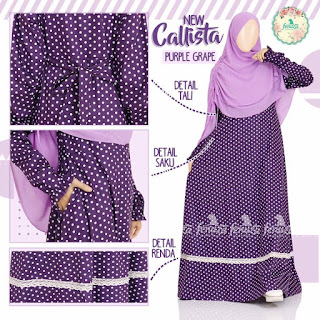 Gamis Fenuza Callista Purple Grape