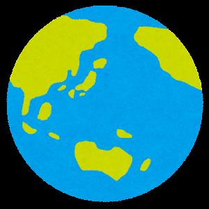 地球のイラスト(日本中心)