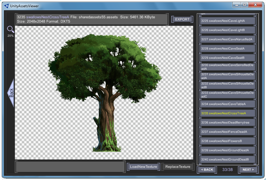 Unity assets viewer