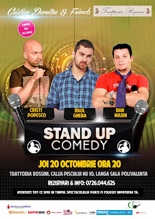 Stand-Up Comedy Joi 20 Octombrie Bucuresti