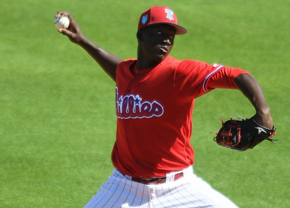 Seranthony Dominquez impresses as Philadelphia opens spring schedule