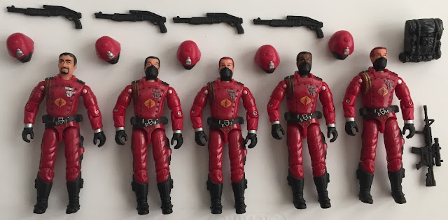 2003 Agent Faces, 2004 Operation Crimson Sabotage, 2005 Crimson Guard, Toys R Us Exclusive, Mail Away Exclusive, KB Toys Exclusive