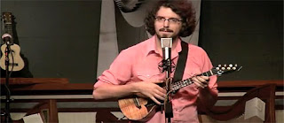 James Hill with ukulele strap