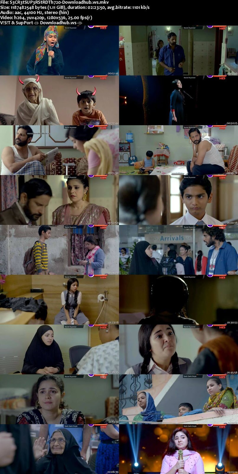 Secret Superstar 2017 Hindi 720p DTHRip