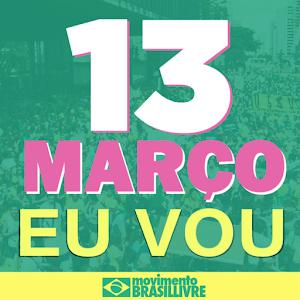 manifestação 13 de março contra Dilma