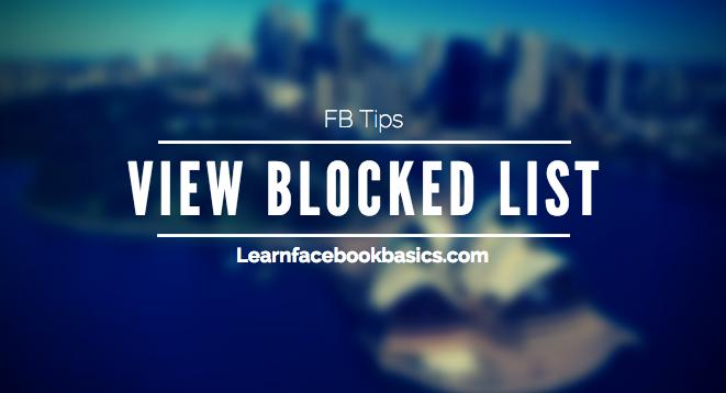 List Unblock Friends