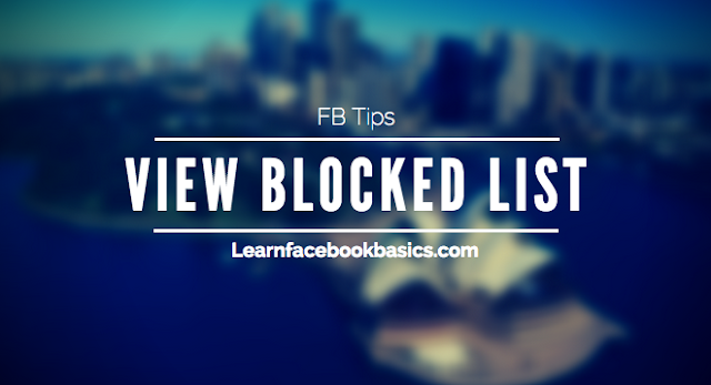 Facebook blocked list