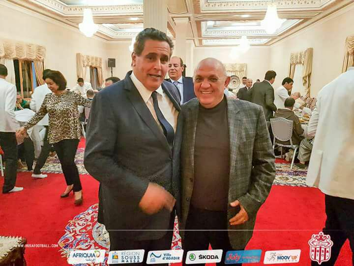 اجتماع بين رئيس غزالة سوس حسنية اكادير والسيد عزيز أخنوش