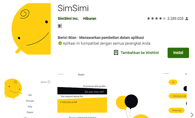 Merasa Bosan? Cobalah Aplikasi SimSimi Indonesia