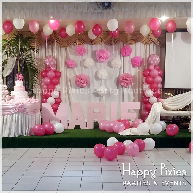 Happy Pixies Party Boutique: MARIE's Simple Pink & White