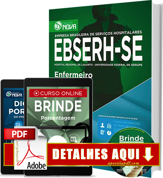 Apostila EBSERH SE 2016 Enfermeiro Impressa