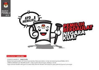 download maskot pemilu 2019 , logo kpu pemilu