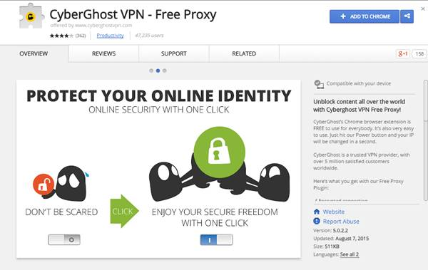 Proxy yang cocok untuk google chrome