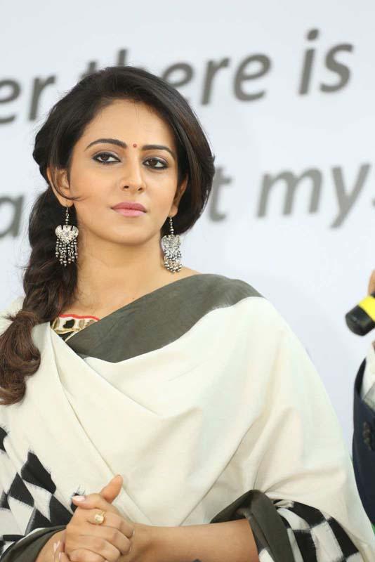 Rakul Preet Singh Pics In White Dress