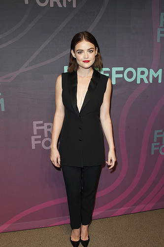 Pretty Little Liars actress Lucy Hale at Freeform 2016 Upfront