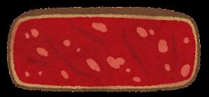 ステーキの焼き方のイラスト(ベリーレア)
