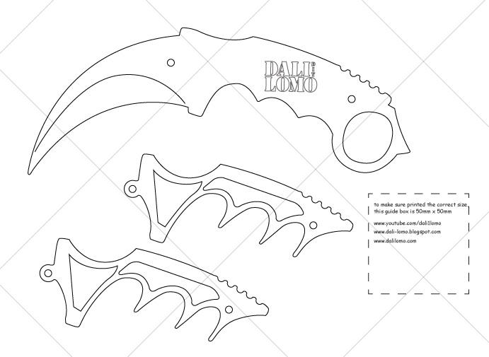 Crambit Knife Templates Printable