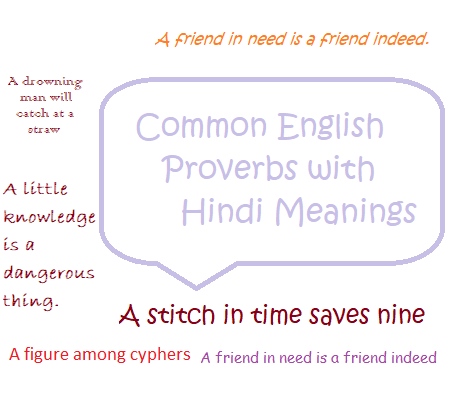 Common English Proverbs with Hindi Meanings
