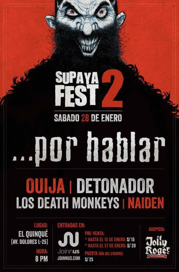 Por Habla en Arequipa en el Supaya Fest 2 - 28 de enero